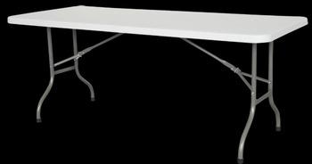 Genial 6 Feet Long Center Folding Banquet BBQ Camping Outdoor Plastic Folding Table