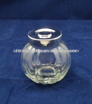 lovely pumpkin shaped small glass jar with ABS lid