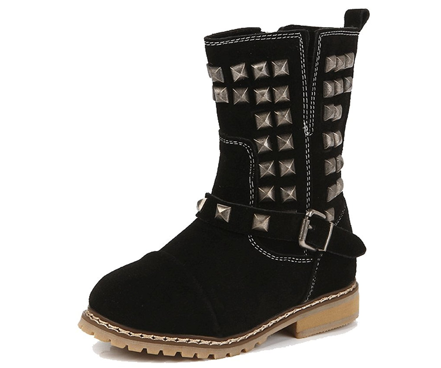 Get Quotations · Pointss Girls Leather Winter Boot Rivets Fashion Boot  Non-Slip Snow Sneaker Princess Dresses Boot e5d1b113283d