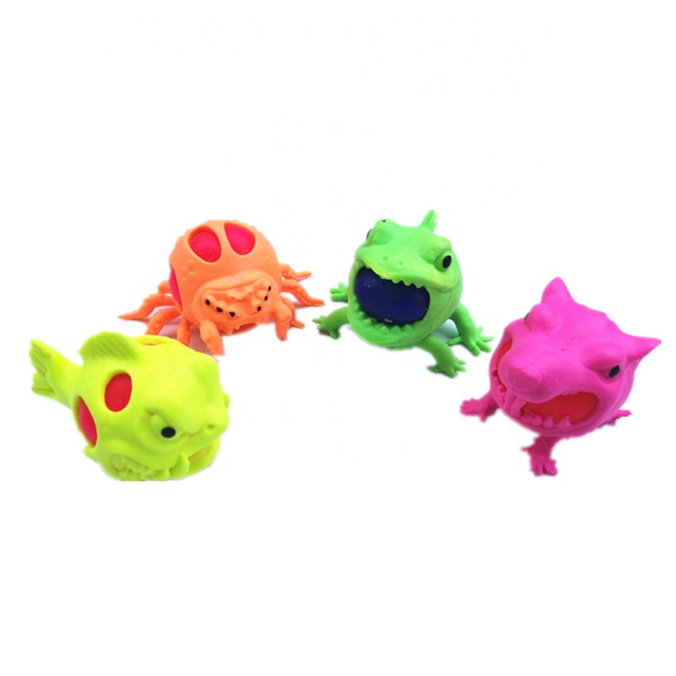 New Animal Trick Grape Squishy Ball TPR Soft Squeeze Balls Stress Reliever Funny Joke Toy for Children Adult Gift