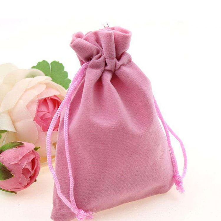 China factory direct sale color velvet drawstring pouch velvet bag