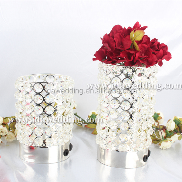 Small Wedding Decorations Crystal Bead Candle Holders Votive Candle