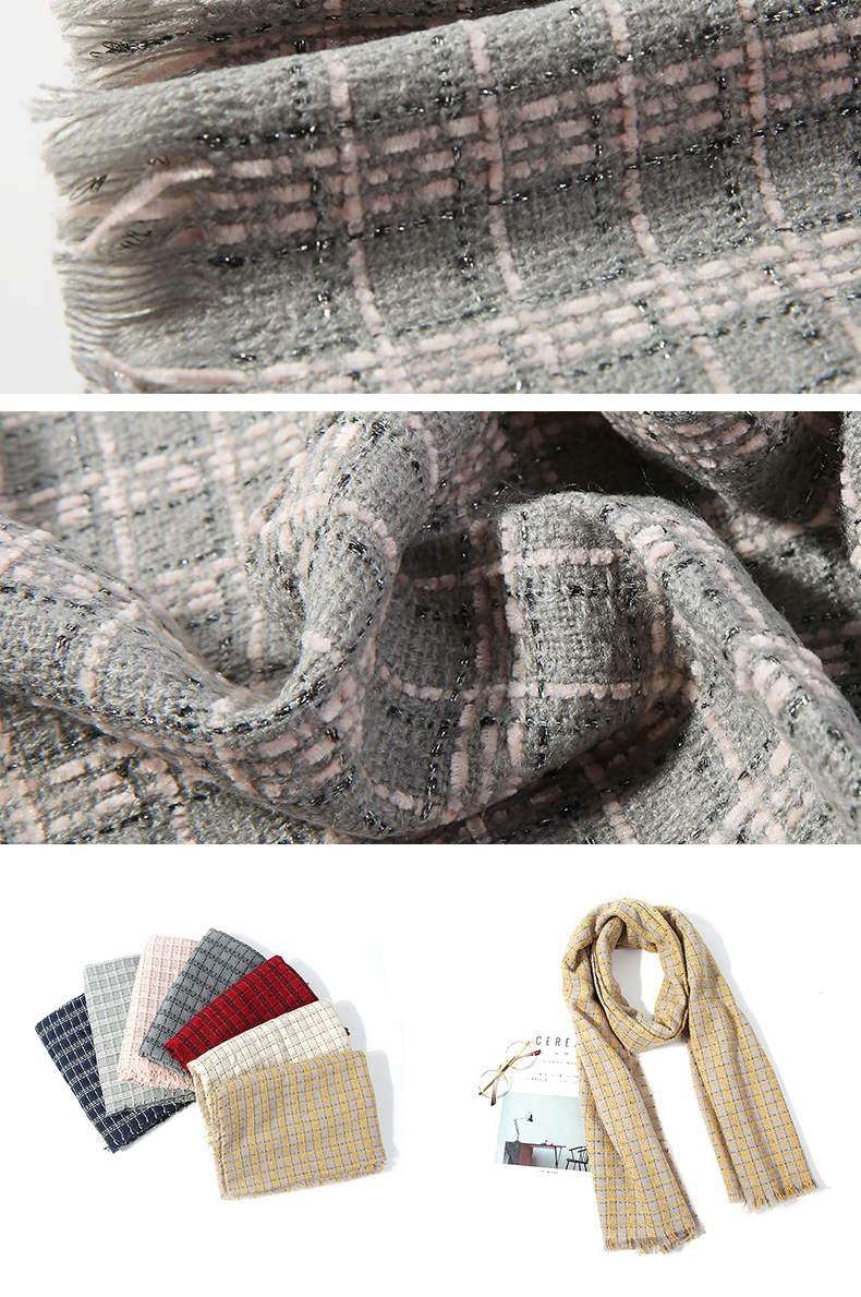 HC-YR014 low price stock winter cashmere woolen scarf cashmere knit scarf 175*60cm
