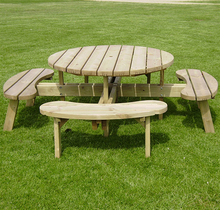 Wooden round picnic tables wooden round picnic tables suppliers and wooden round picnic tables wooden round picnic tables suppliers and manufacturers at alibaba watchthetrailerfo