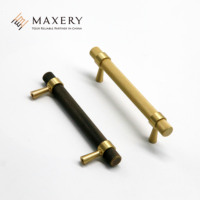 Maxery Brass Furniture Handles and Knobs Knurled Solid Brass Cabinet Knobs Replacement Door Knobs Wardrobe Pulls