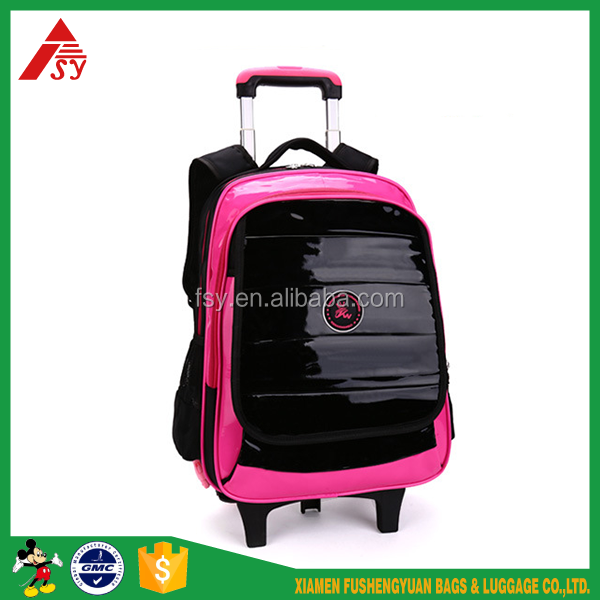 Hot selling student bag <strong>school</strong> with wheels children rolling backpack for kids trolley bags