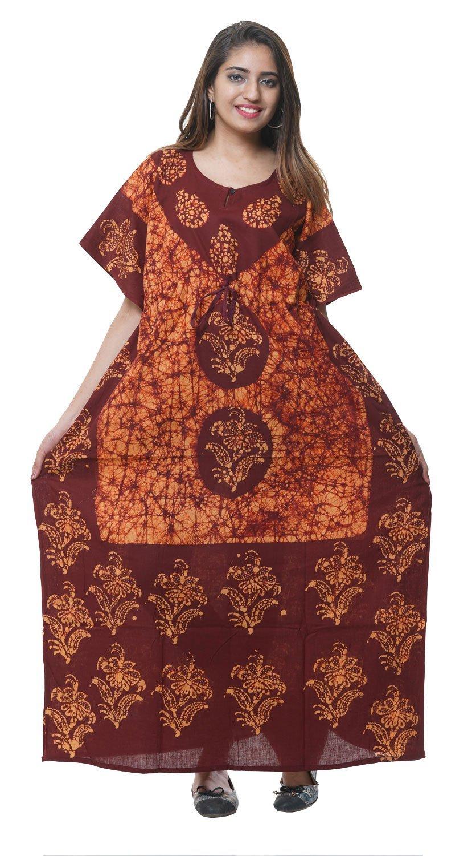 0b64322770cd Get Quotations · Creativegifts Kaftan Tunic Kimono Dress Ladies Summer Women  Evening Maxi Party One Size Cotton Kaftan +
