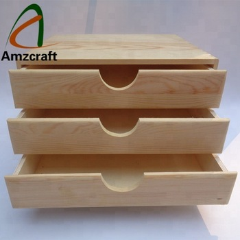 Unfinished Wood Jewelry Box Drawer
