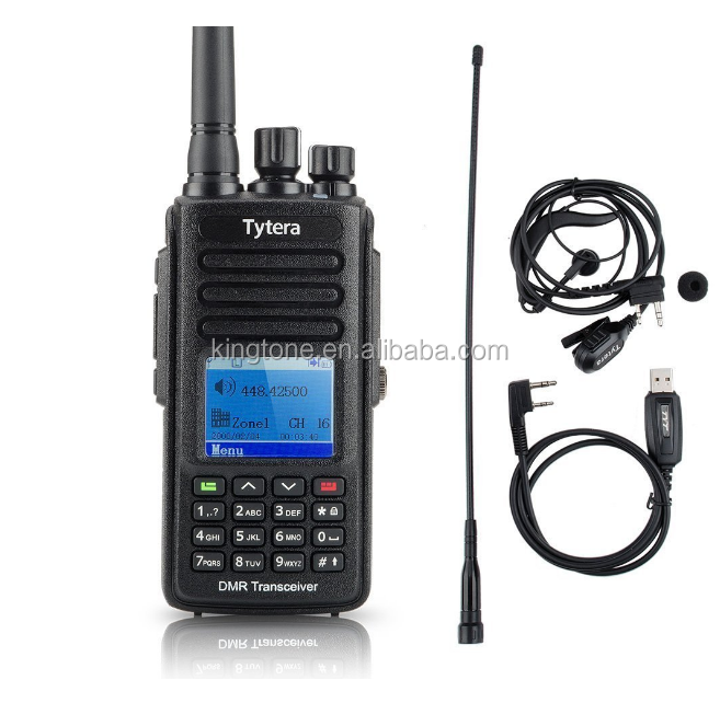 IP67 Waterproof Handheld Transceiver TYT MD-390 DMR Digital Walkie Talkie UHF400-480MHz