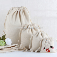 Eco friendly polyester fabric canvas drawstring bag