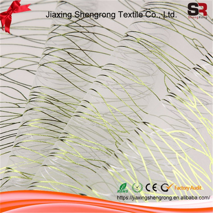 China Wholesale High Quality Fashion Embroidery Fabric Organza