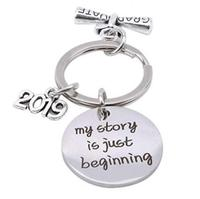 Key Chain Jewelry Charm Metal Keychain Keyring Class of 2019 Graduation Gift SG806