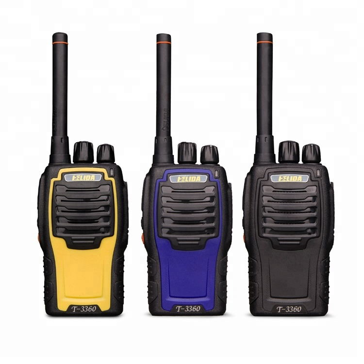 UHF America walkie talkie 16 channels 5W up to 10KM with scan monitor function lightweight army police interphone manufacturer