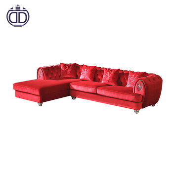 Italian Modern Furniture Wedding L Shape Sectional Sofa Contemporary Long L  Shaped Red Velvet Sleeper Sofa - Buy L Shape Sectional Sofa,Red Leather ...