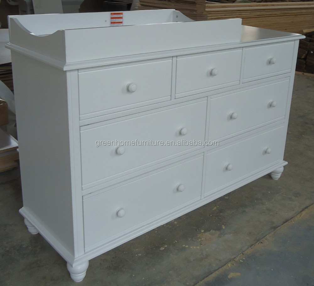 White Nz Pine Baby Change Table 7 Chest