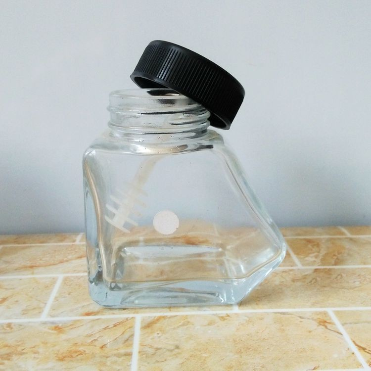 Special Shaped Glass Honey Jars 40ml 150ml Glass Jar Food Safe With Dipper