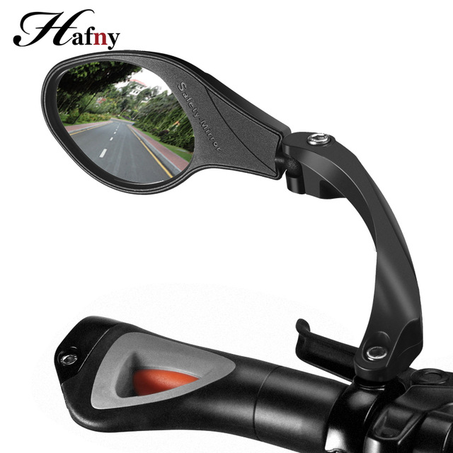 BIKEIN 3k Carbon Pattern Bicycle Part Handlebar Rear View Mirror 360 Rotate 22mm