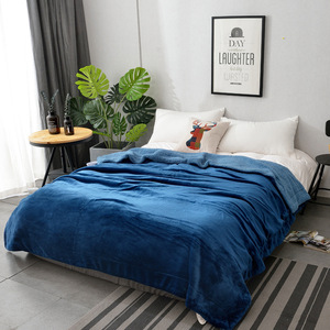 Double Layer Soft Bed Throw Cheap Hotel Blanket Blanket 200*240
