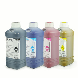 Ocbestjet 1000ML/Bottle 4 Colors Refill Eco solvent Ink For Epson L1800 L1800 R230 TX800 1390 Printer