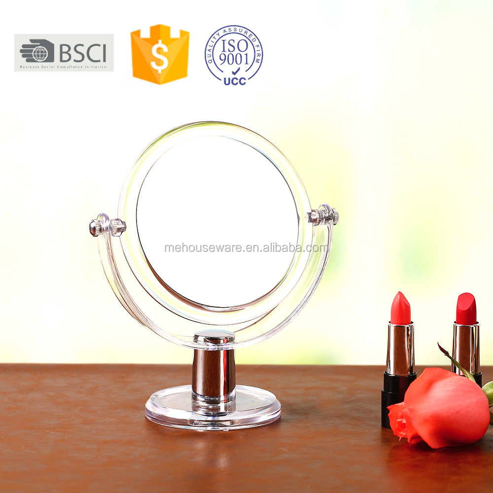 High Quality Attractive Round Table Mirror Magnifying Acrylic Makeup Mirror