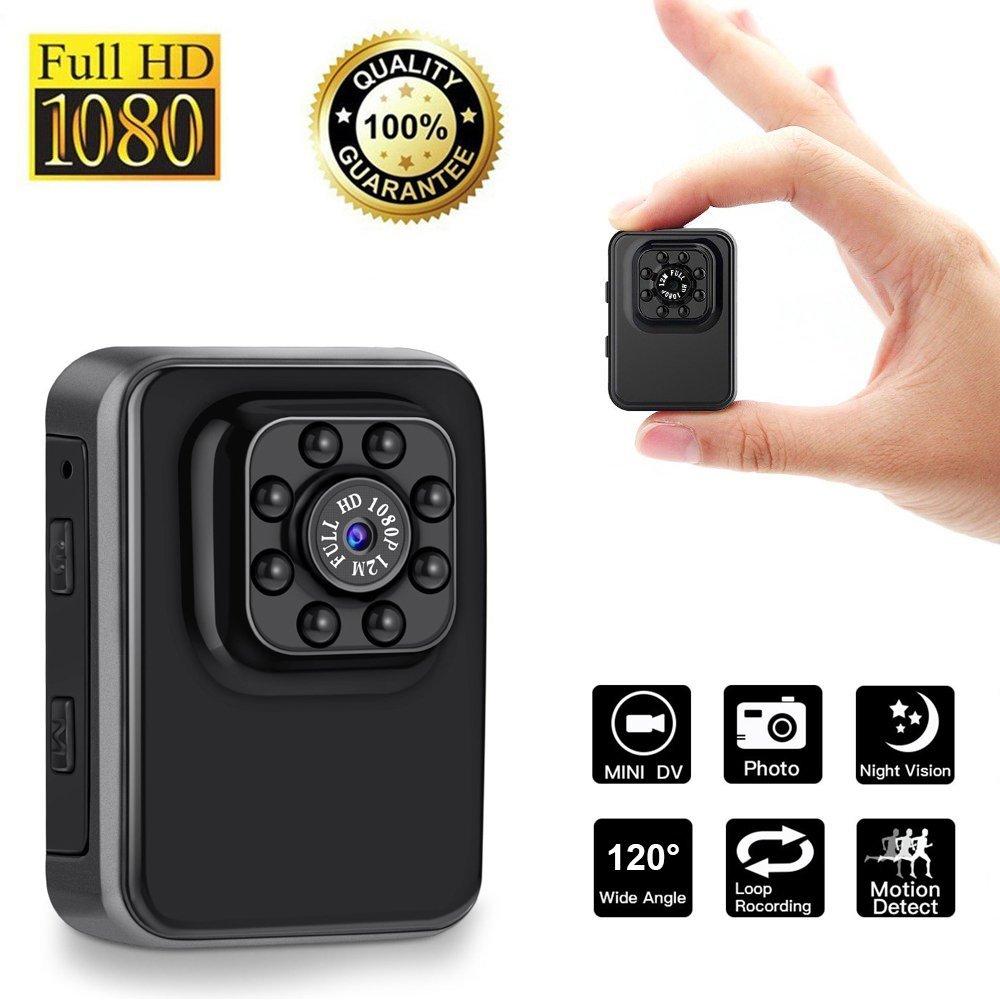 Mini Portable Small Body Camera 1080P HD Sport DV Night Vision Motion Detection Loop Recording Indoor/Outdoor Security Surveillance Camcorder Nanny Cam Video Recorder