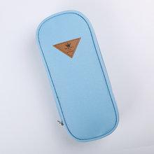 1 шт., лаконичный холщовый чехол конфетного цвета в Корейском стиле для хранения, сумка-Органайзер, школьные принадлежности для студентов(Китай)
