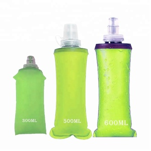 Outdoor Sports Running Collapsible race event soft flask water bottle