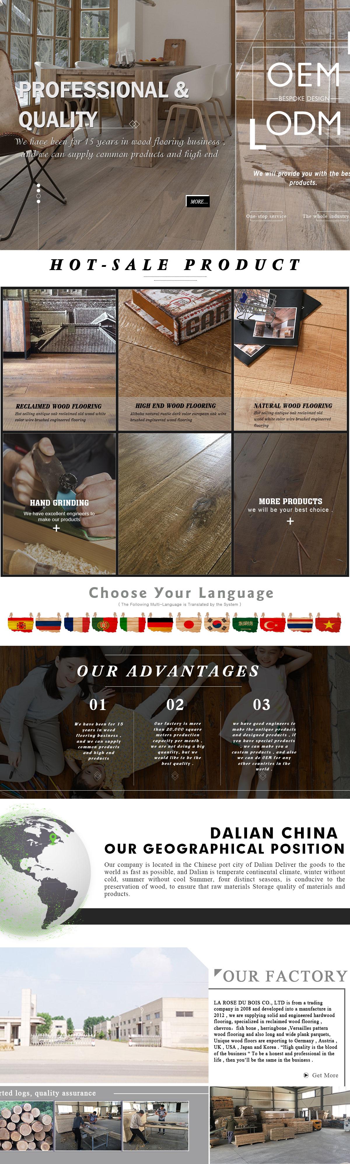 La Rose Du Bois Co Ltd Dalian Engineered Wood Flooring Wood  # Bois En Chaene