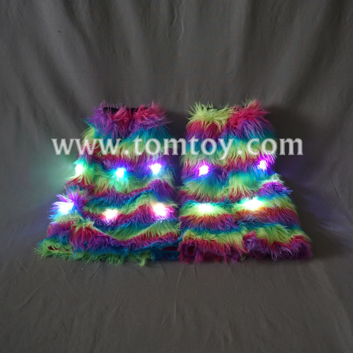Party Costume Light up LED Flashing Furry Arm Leg Warmers