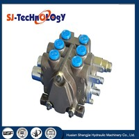 spool directional control valve ZCDB-F15 with 2 spools, medium pressure for forklift, crane, earth moving machines, tractors