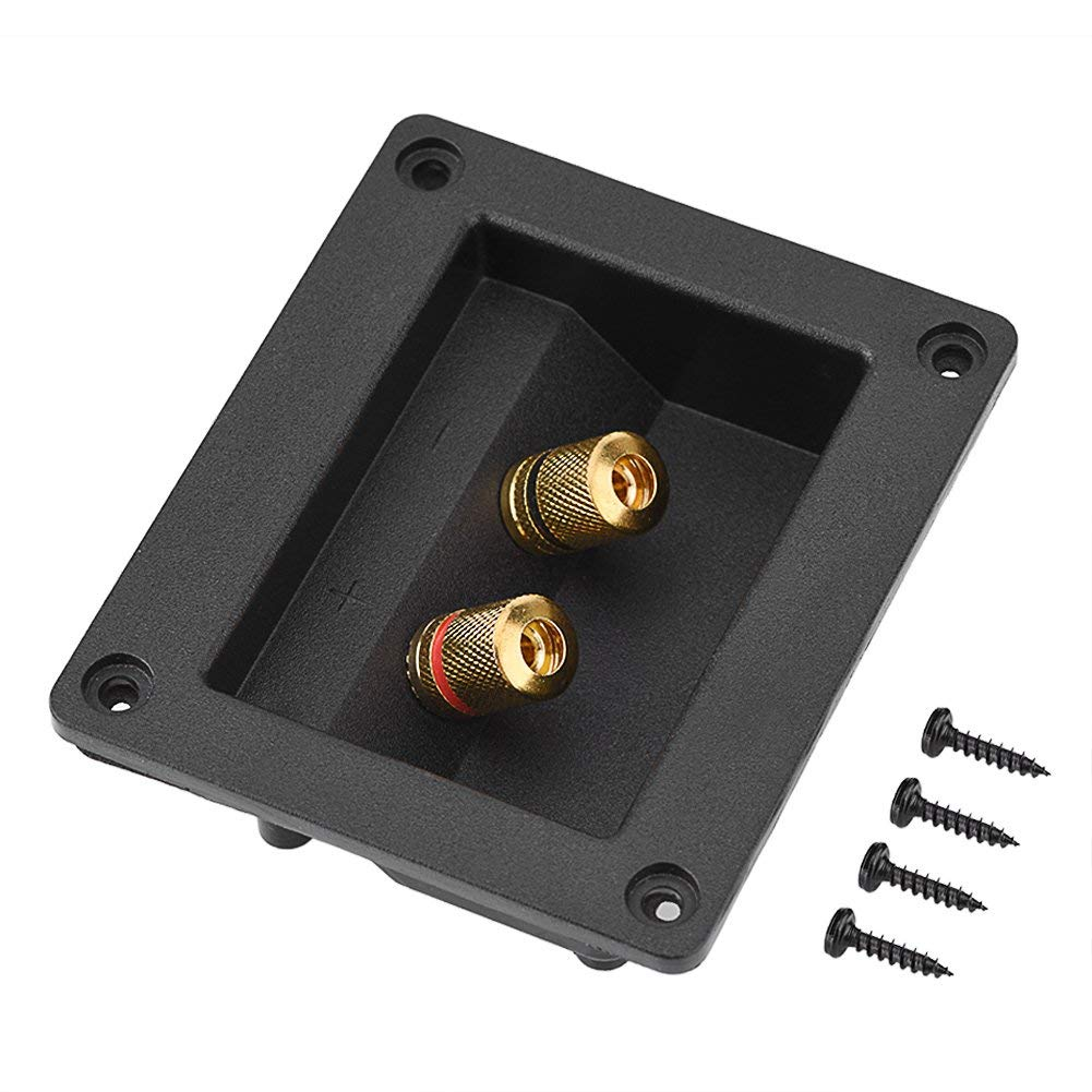 Acoustic Components for HiFi Speaker 2 Copper Binding Post Speaker Terminal Cable Connector Box Shell