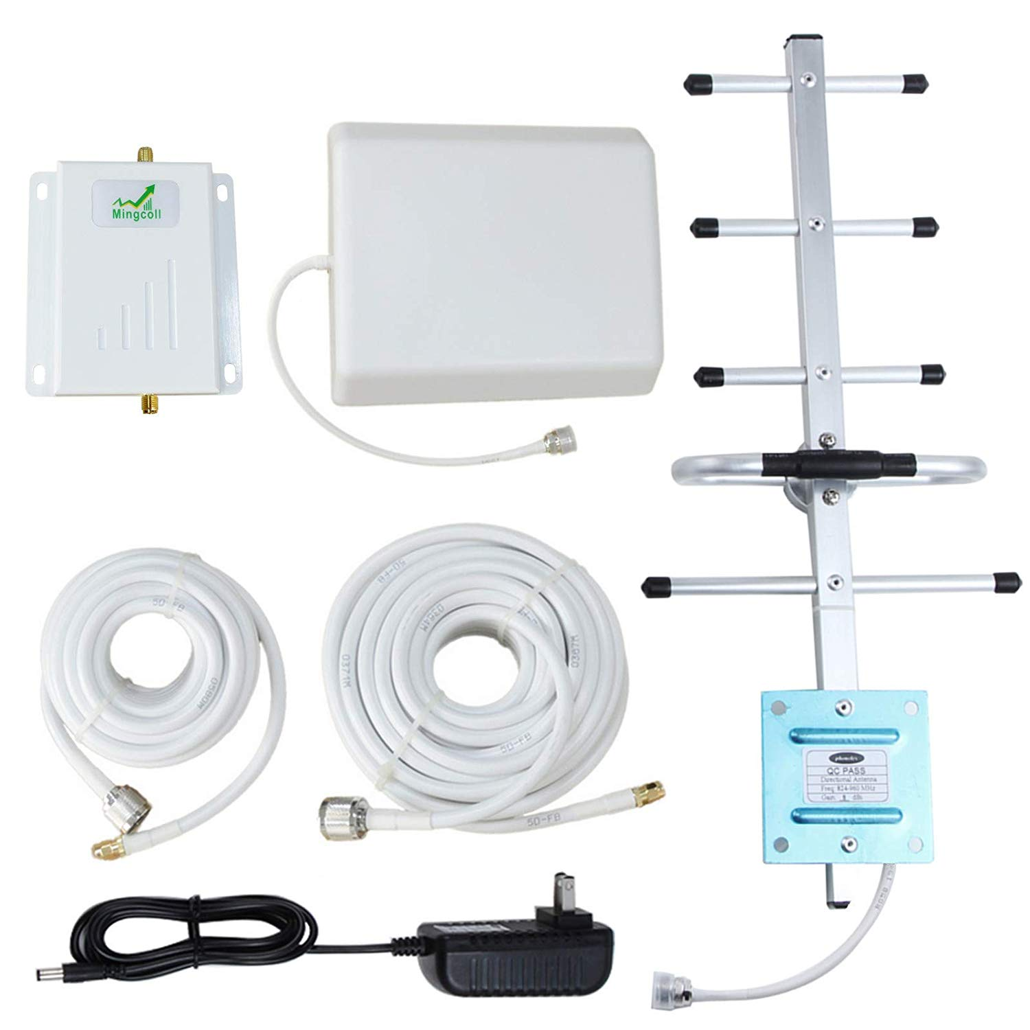 Mobile Cell Signal Booster Repeater Mingcoll Verizon Cell Phone 4G LTE Signal Booster High Gain 700MHz Band 13 Cell Phone Signal Booster Amplifier (WV70-VPQ)