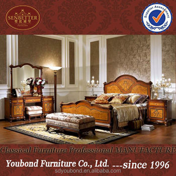 0051 American Country Style Wood Bed,European Classic Bedroom Set Furniture  - Buy Classic Bedroom Furniture,Amrican Bed,Wood Bed Set Product on ...
