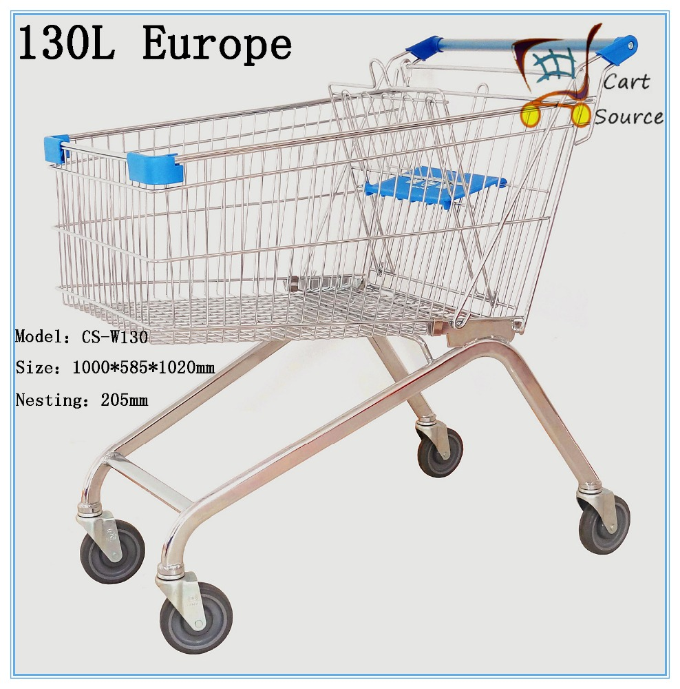 130L Supermarket 4 wheels Cart Trolley,Shopping Trolley,Shopping Cart