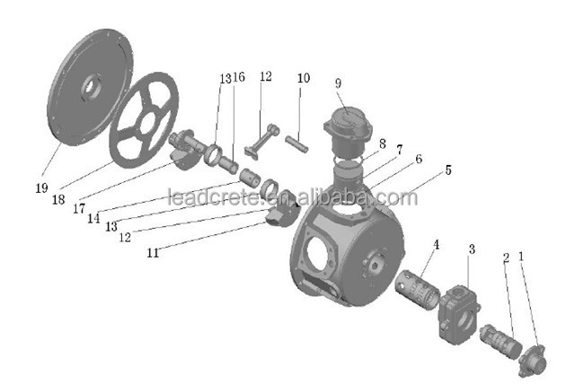 High torque low rpm used for coal mining air piston motor for High torque air motor