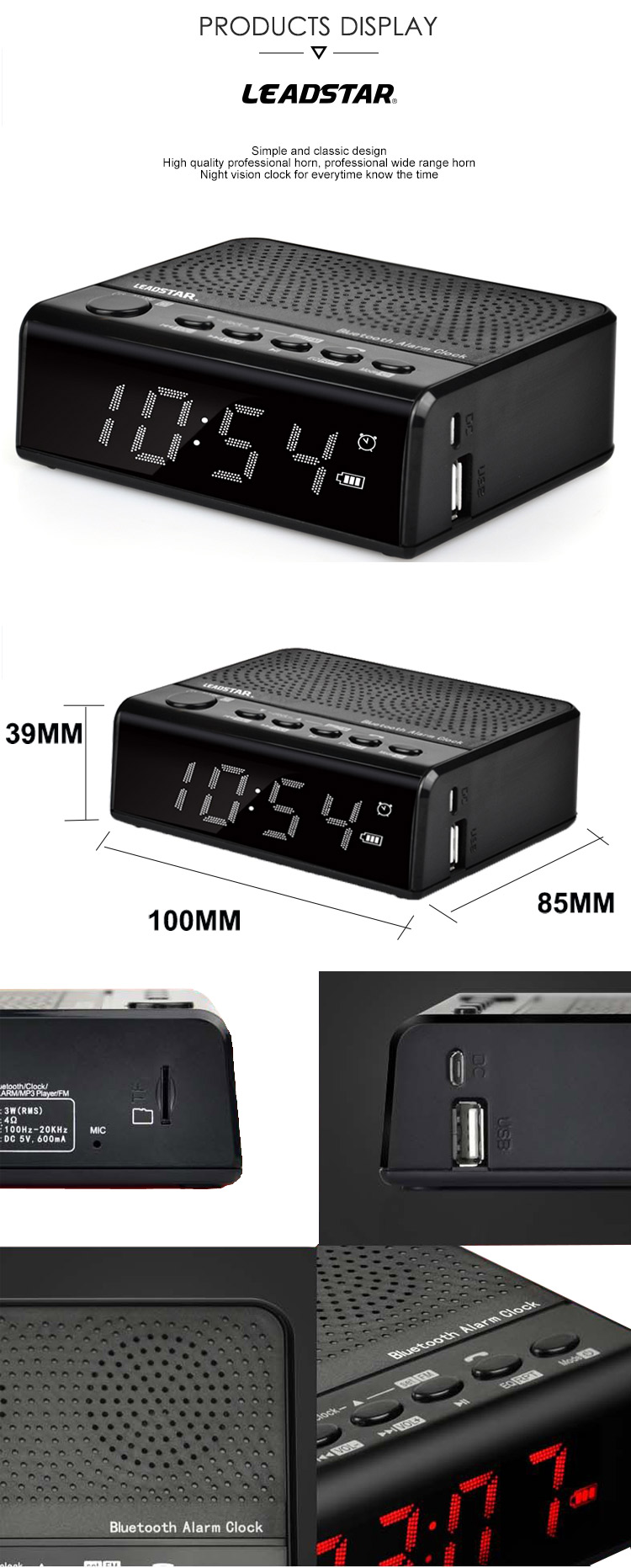 Favorable Price Night Vision Clock Radio With Cd Player