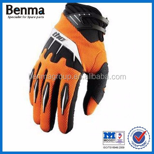 Custom orange motorcycle gloves for your choice