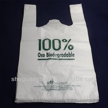biodegradable plastic carry bags for shopping with handles