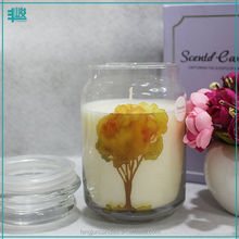 wholesale candle factory china soy scented decaled jars votive glass candle with glass lid