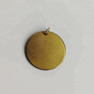Blank Antique Bronze Round Necklace Charm /Pendent