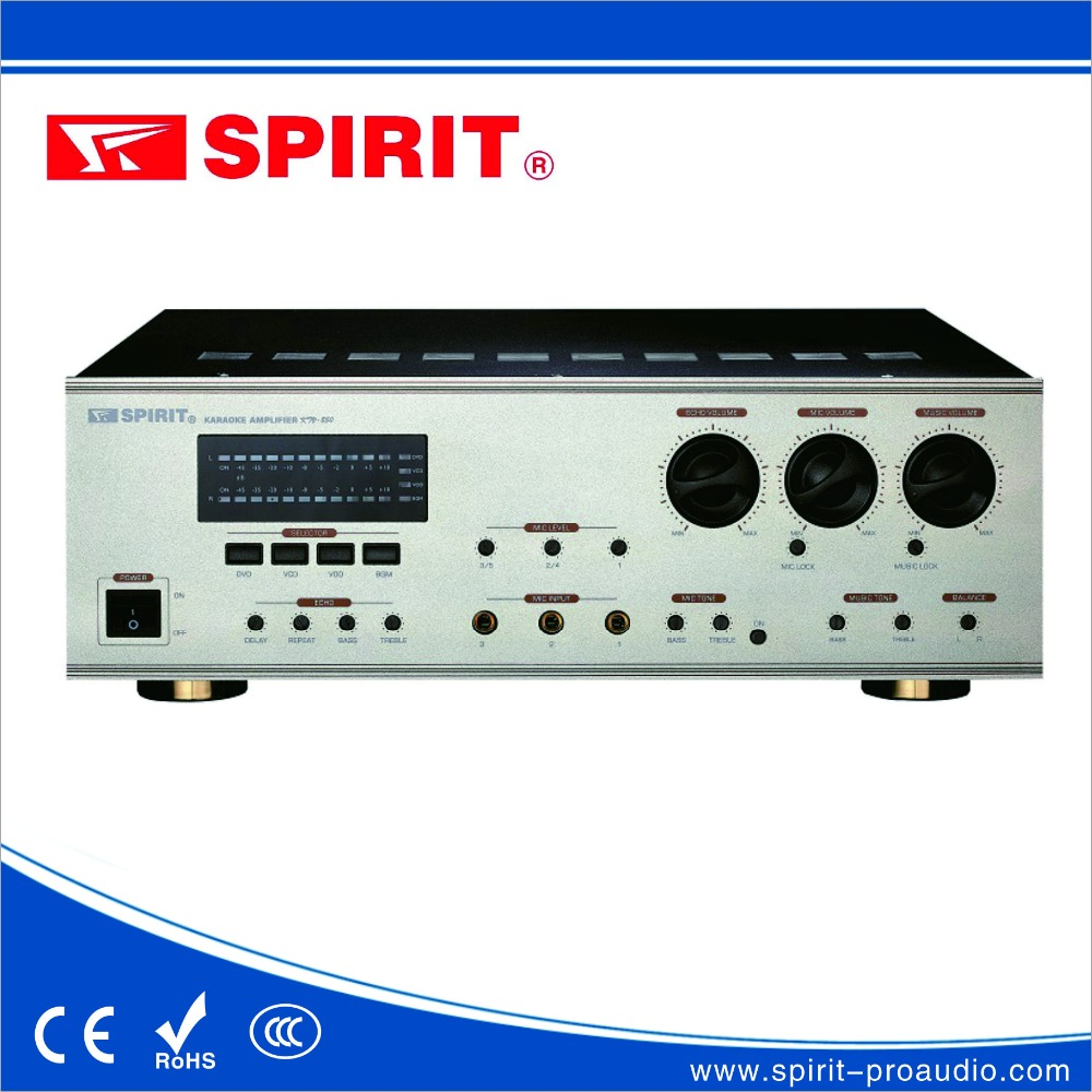 2x 200w 8ohm china karaoke power amplifier KTV200 sound systems equipment OEM spirit for sale