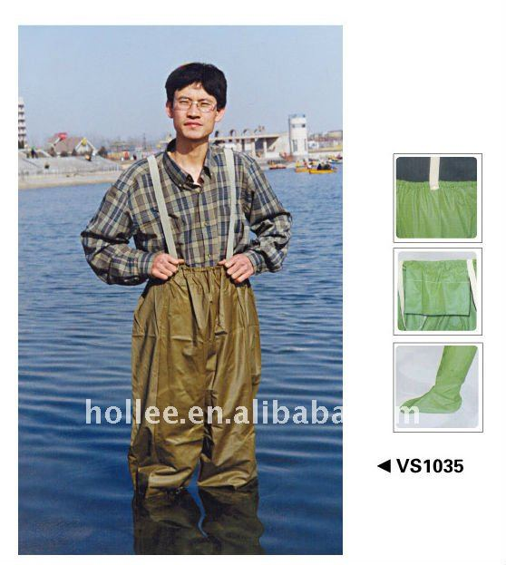 vinyl foot wader black