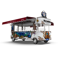JEKEEN new customized food truck with snack machines of Kuck-50