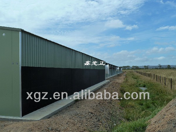 prefabricated steel structure poultry farming building
