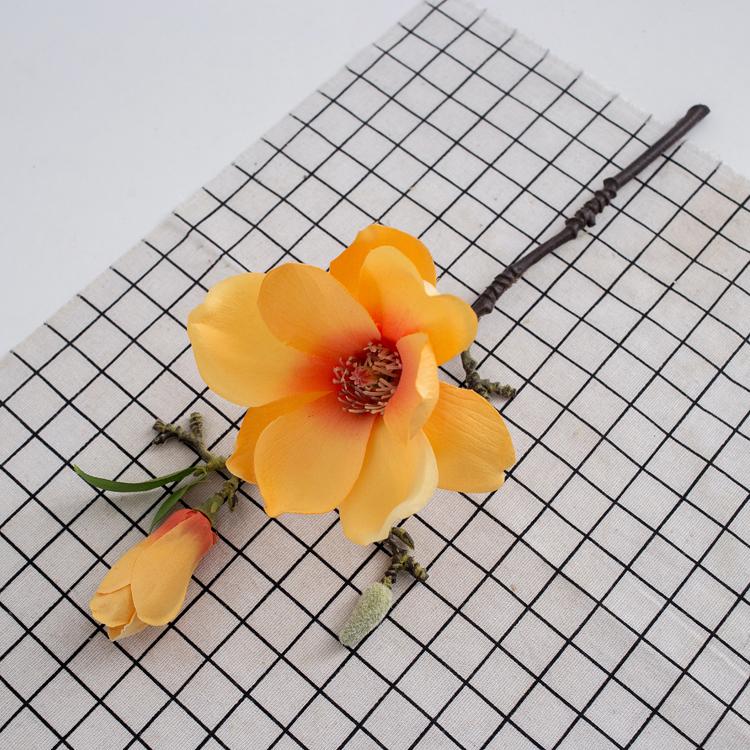 Wholesale Orange Color Mini Artificial Bulk Silk Flowers For