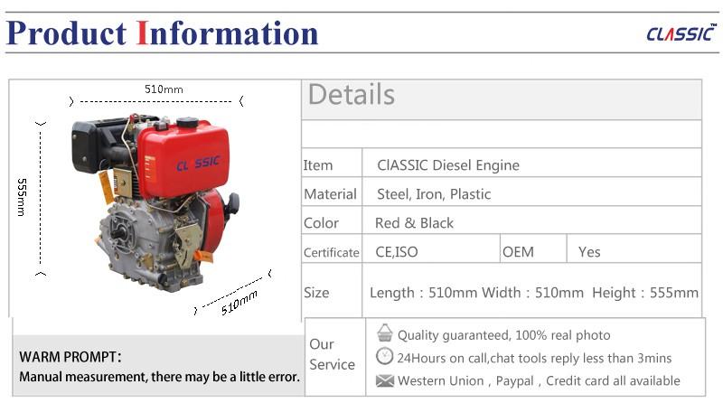 Bison China Taizhou 4 Tempos A Diesel 186fa Motor Disel