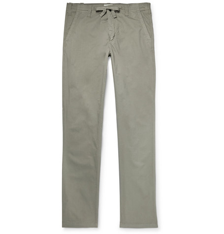 Mens wear Slim-Fit Cotton Drawstring Trousers long pants