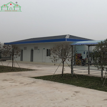 2018 good insulated real estate modular prefab house T type camp house