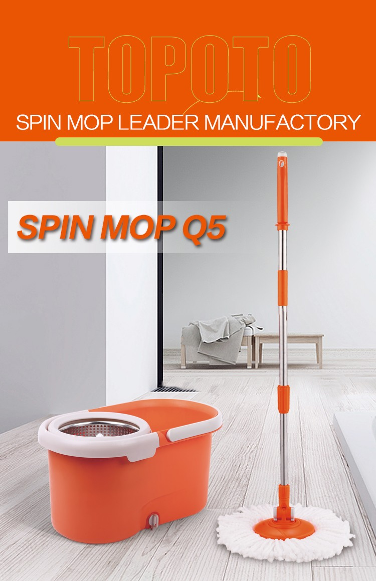 TOPOTO 2020 Best Selling Household easy clean 360 magic cleaning floor rotary mop with microfiber mop head