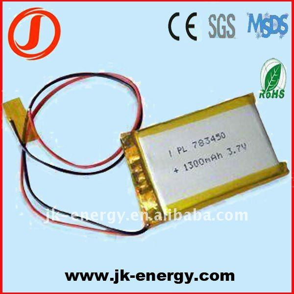 783450 lithium polymer battery with Taiwan pcm and wire